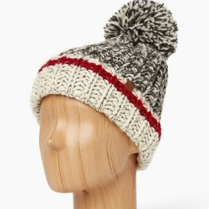 Roots Cabin Chunky Knit Beanie Hat Toque